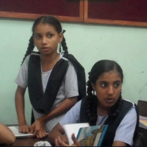 Students discuss questions of caste and gender during a Sangati class in a Bombay Municipal Corporation school